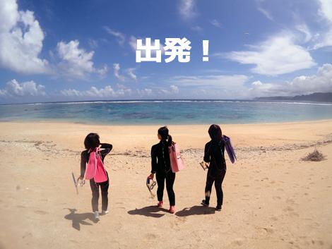 奄美大島ウミガメスイム出発。