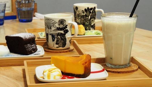 笠岡市「CAFE BUTTON カフェボタン」かわいい一軒家カフェ。マリメッコと濃厚絶品チーズケーキ