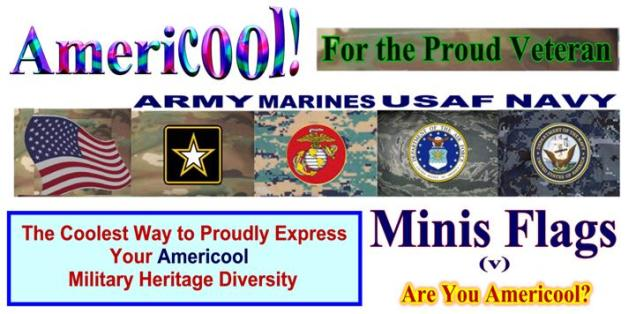 US Arm Forces Heritage Mini Flags