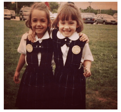 Erin sent this to me the other day, and it makes me want to cry! It's she & I on our first day of Kindergarten :)