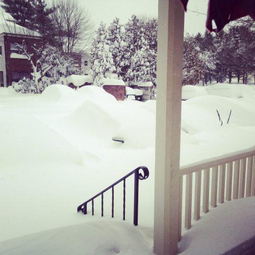 Post-blizzard. So much snow!