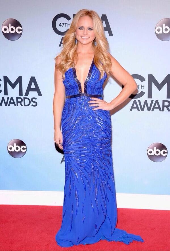 Miranda Lambert. Girl is bringing the color! She's definitely lost a little weight as well, she looks amazing.