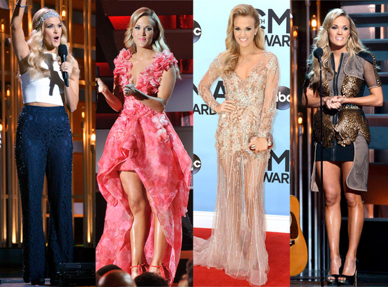 Carrie Underwood's wardrobe changes. Source.