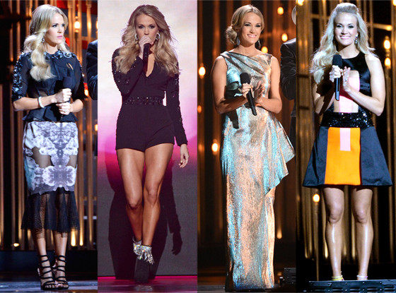 Carrie Underwood's wardrobe changes pt. 2. Source.
