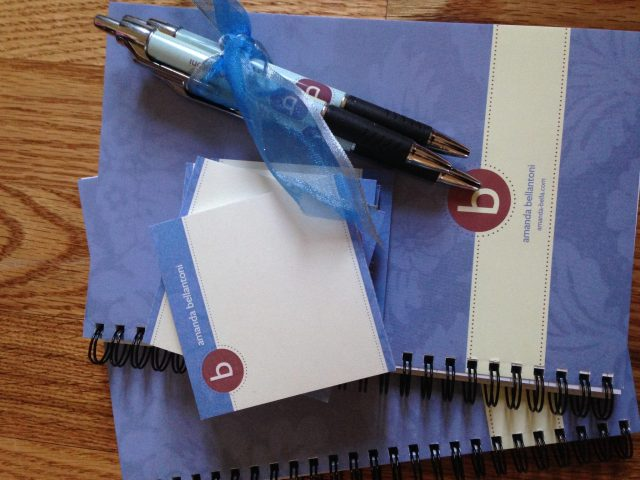 My Mom & Dad designed these custom notebooks, pens & stickys for my blog :)