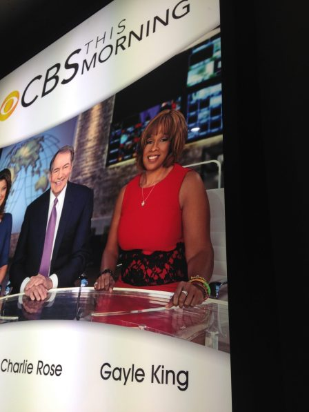 Had to snap a picture of the CBS This Morning sign. Mike's video was on this show, did you see it? ;)