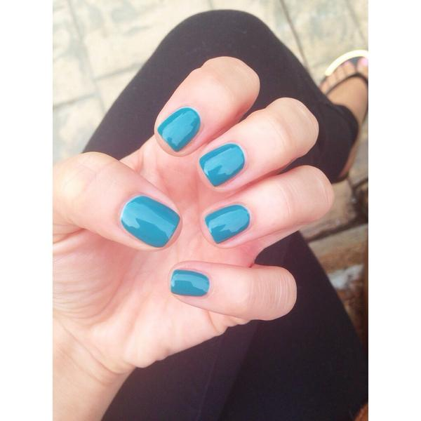 """Current mani: Gelish """"Garden Teal Party"""""""