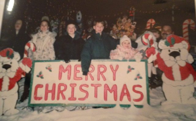 Last Monday I blogged about the house in Norwalk with the crazy lights display - well 1) they will be on the Great Light Fight tonight! and 2) After going through some old albums, we found some pictures of us at the house years ago!