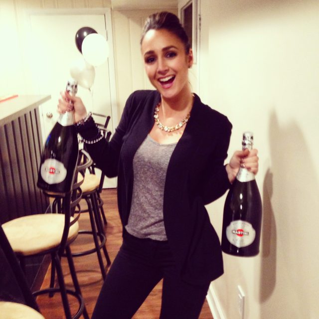 Popping champagne actually terrifies me. They popped, I poured :)