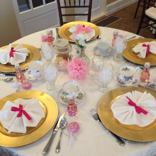 Loved all of the pink & gold!