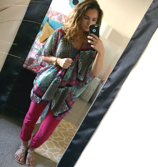 Jeans: JCPenny // Tank: Victoria's Secret PINK // Kimono: Band Of Gypsies [Marshalls] // Sandals: Kohls?