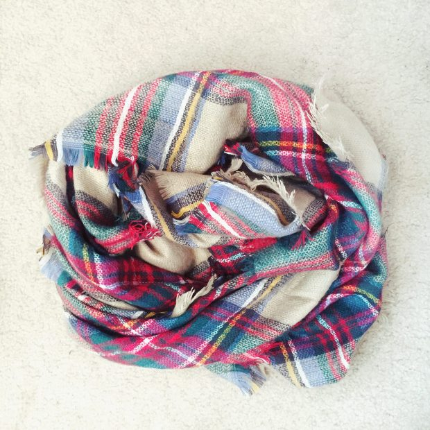 plaid blanket scarf 2