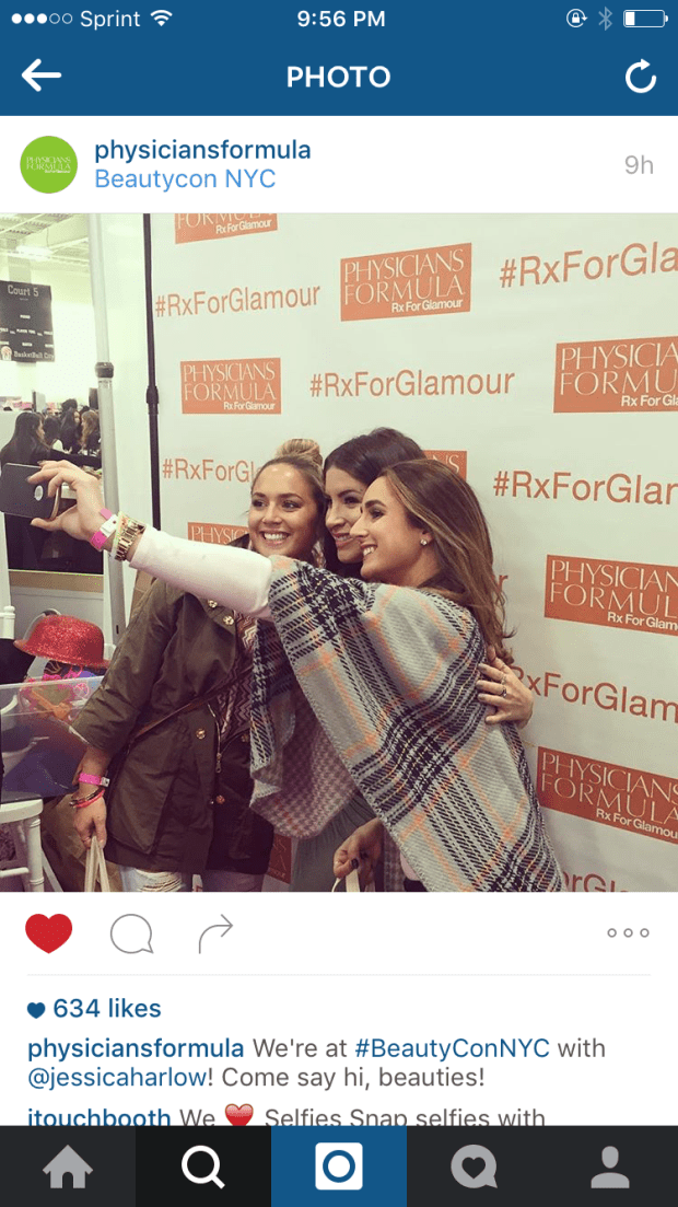 We got home + saw that we were featured on the PF Instagram page snapping selfies! Too funny
