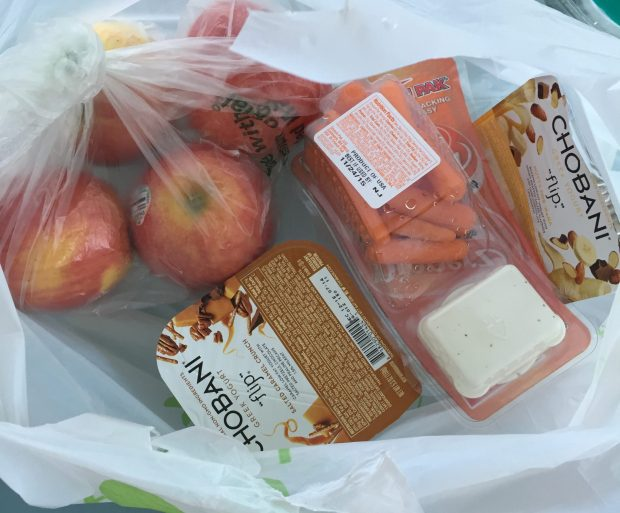 Picked up some apples + carrots. However, I will not give up my ranch dip lol.