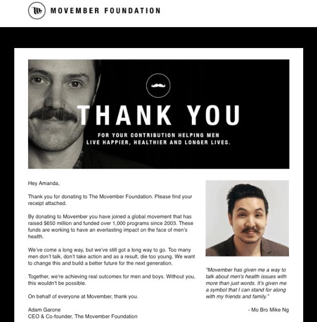 Movember donation