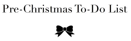 pre christmas