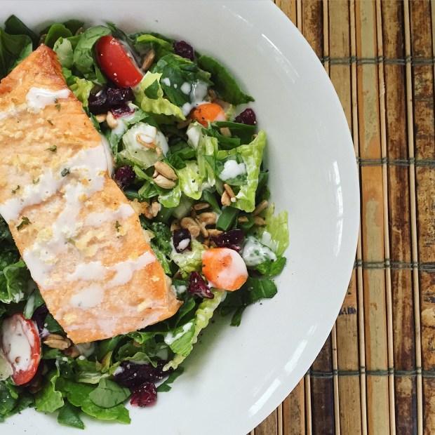 Love having salads for dinner!