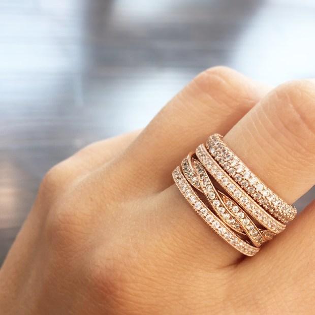pandora danbury ct stackable rings