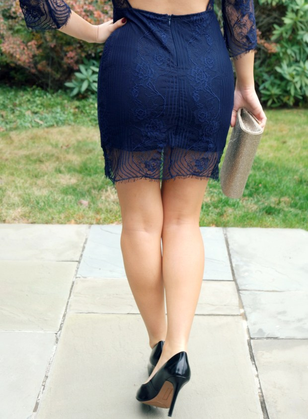 olivia rose lacey navy holiday dress