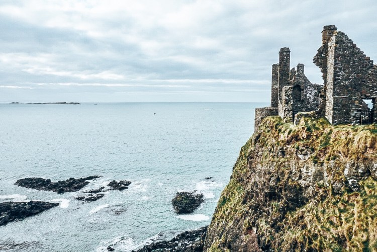 Cliff view of Dunluce Castle