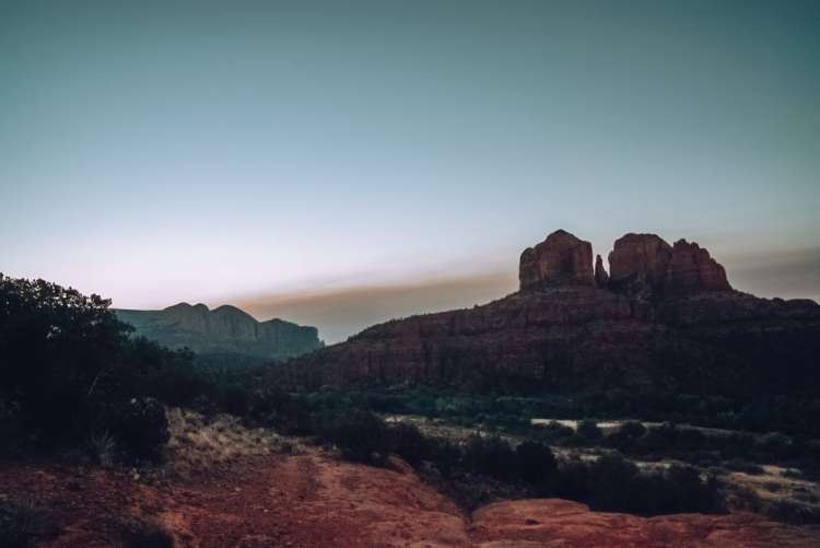 Sunrise at Secret Sliprock in Sedona