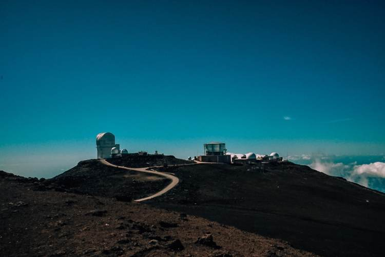 View of the observatory at Haleakala