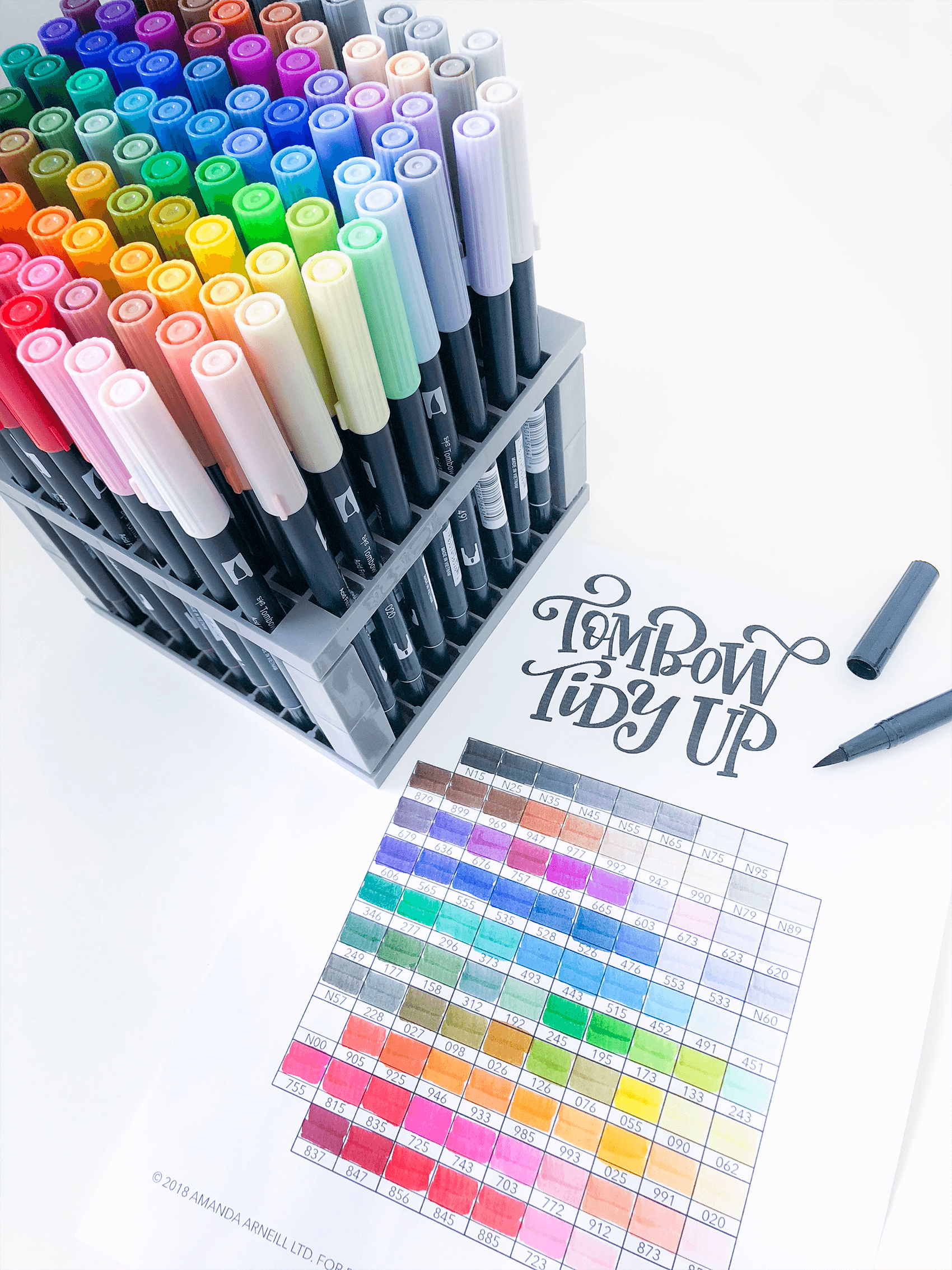 Tombow Tidy Up Layout 1 1 Amanda Arneill Hand Lettering