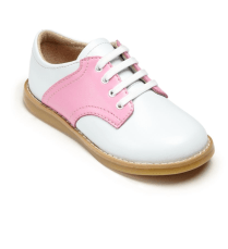 Footnotes Pink & White Saddle Shoes
