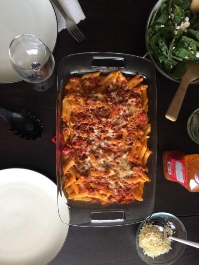 First Week in Colorado Springs: homemade baked ziti   amandabixler.com