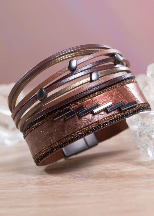 Leather Cuff Bracelet - Copper Bronze