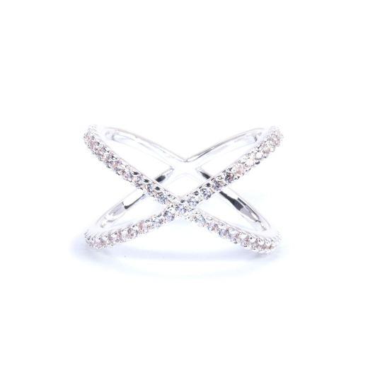 Criss-Cross Ring Size 7 - Silver