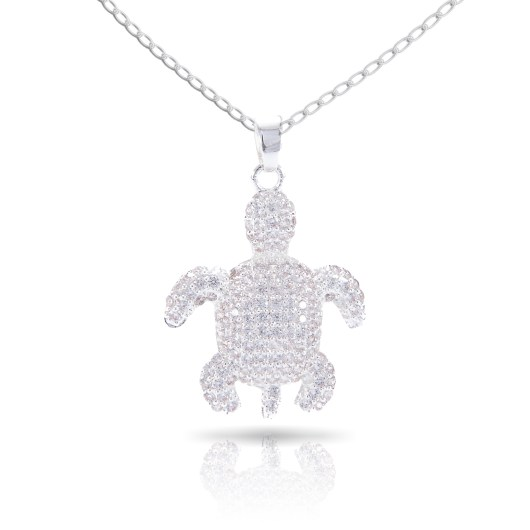 Turtle Necklace - Silver