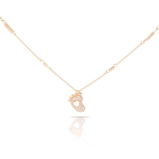 Heart Foot Necklace - Gold