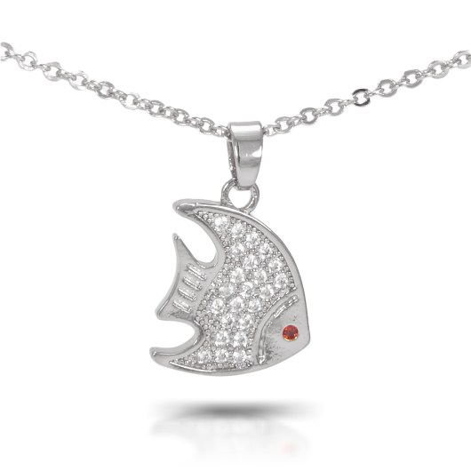 Angelfish Necklace - Silver