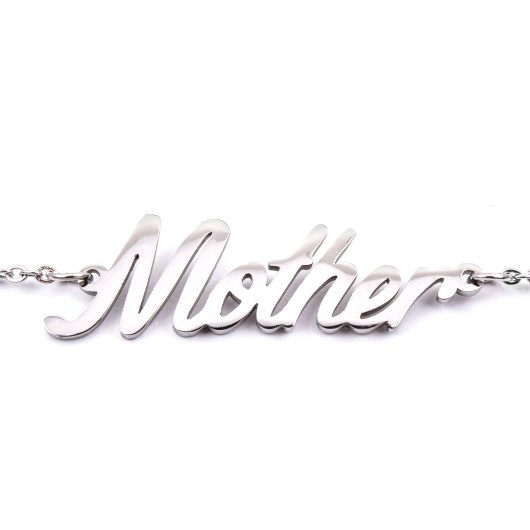 Stainless Steel Word Necklace - Mother
