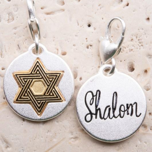Silver 2-Tone Medallion - Star of David