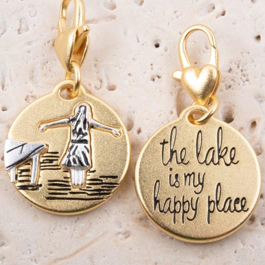 Gold 2-Tone Medallion - Lake Girl
