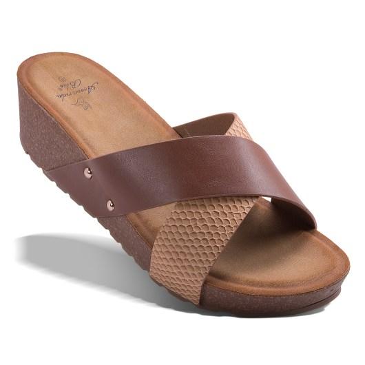 Bianca Slide - Tan Size 10