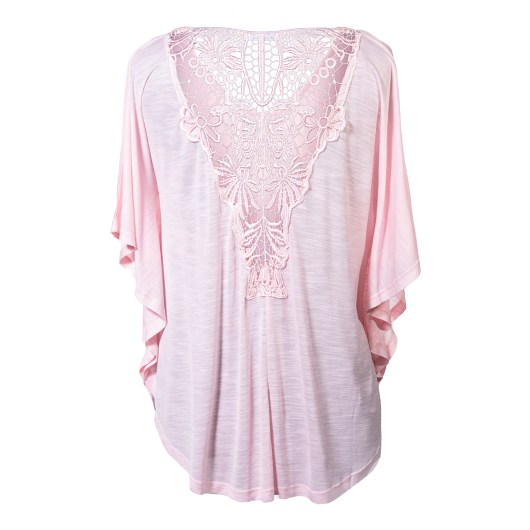 Lace Back Butterfly Top Size 2XLarge - Blush