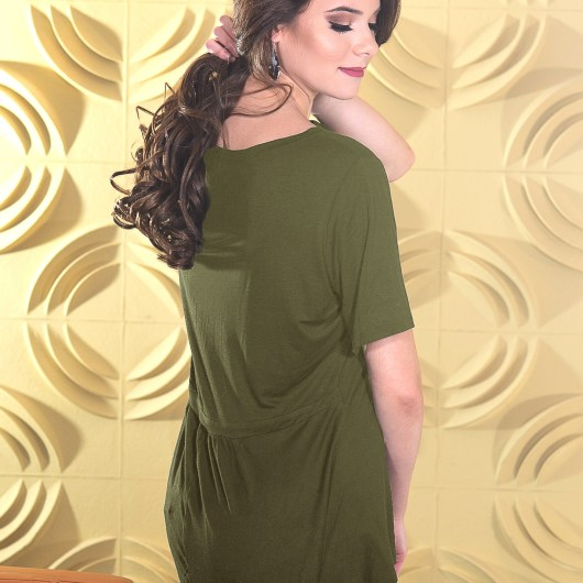 Fit & Flare Top - Olive