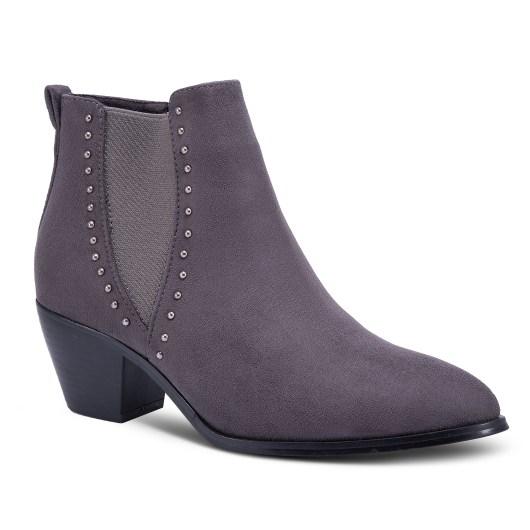 Amanda Blu Poplar Studded V Bootie - Gray - Size 11
