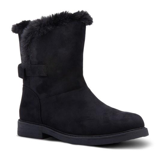 Amanda Blu Windsor Bow Back Boot - Size 11 - Black