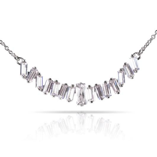 Baguette Necklace - Silver