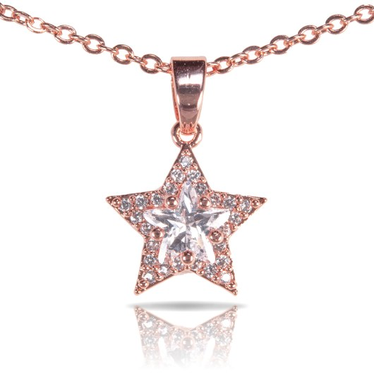 Star Cut Necklace - Gold