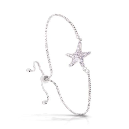Starfish Adjustable Bracelet - Silver