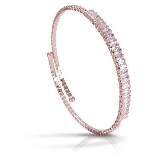 Baguette Single Spiral Bracelet - Rosegold