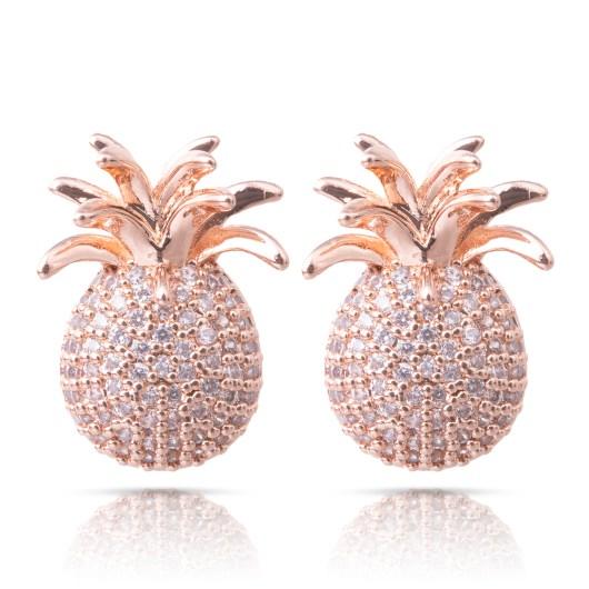 Pineapple Post Earrings - Rosegold