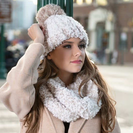 Whiteout Infinity Scarf - Beige