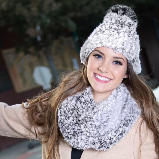 Whiteout Pom Hat - Gray