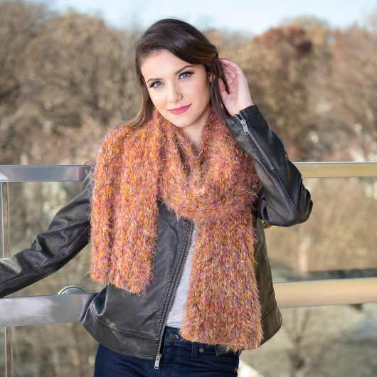Feathered Scarf - Sunset Shimmer